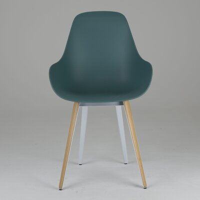 Slice Dimple Side Chair Finish: Natural, Color: Ocean Blue