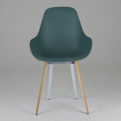 Slice Armchair Upholstery: Ocean Blue, Finish: Natural