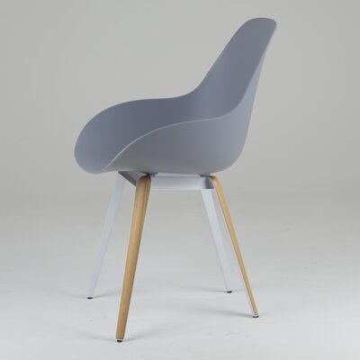 Slice Armchair Upholstery: Light Grey, Finish: Natural