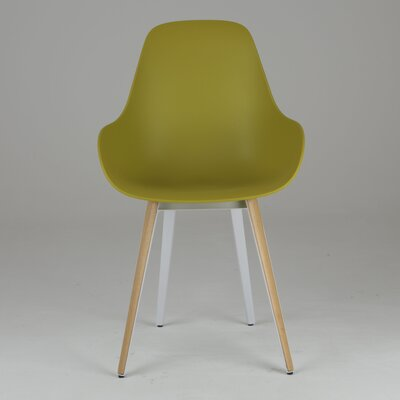 Slice Dimple Side Chair Finish: Natural, Color: Mustard