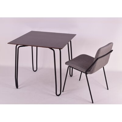 Diamond Contract Dining Table Top Finish: Wenge, Base Finish: Black