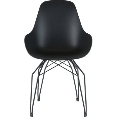 Diamond Armchair Base Finish: Black, Finish: Black