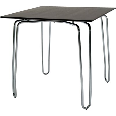 Diamond Contract Dining Table Base Finish: Chrome, Top Finish: Wenge