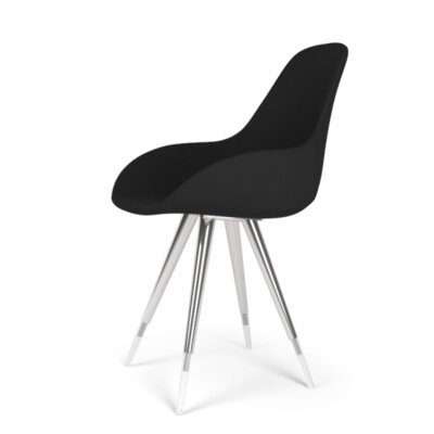 Angel Dimple POP Side Chair Upholstery: Leather - Light Grey