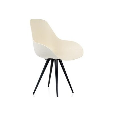 Angel Armchair Finish: White, Base Finish: Chrome
