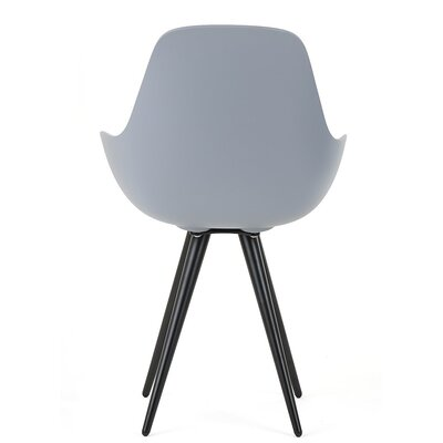 Angel Armchair Finish: Light Grey, Base Finish: Black