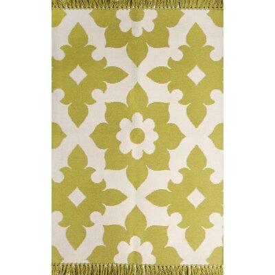 Fleur de lis Citron/Cream Indoor/Outdoor Area Rug Rug Size: 8 x 10