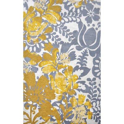 Nila Gray/Gold Area Rug Rug Size: 5 x 76