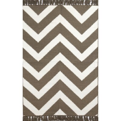 Bahar Brown/Cream Indoor/Outdoor Area Rug Rug Size: 5 x 76