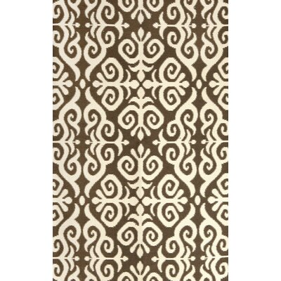 Earth Brown/Cream Indoor/Outdoor Area Rug Rug Size: 36 x 56