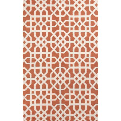 Tile Coral/Cream Indoor/Outdoor Area Rug Rug Size: 5 x 76