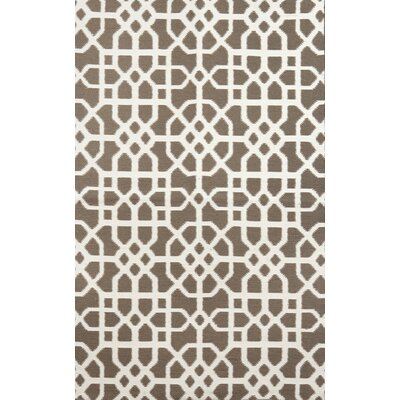 Tile Brown/Cream Indoor/Outdoor Area Rug Rug Size: 36 x 56