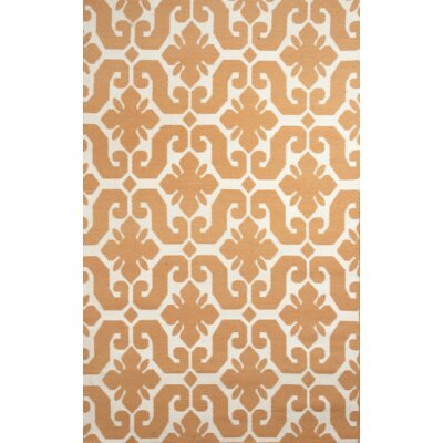 Origin Marigold/Cream Indoor/Outdoor Area Rug Rug Size: 5' x 7'6