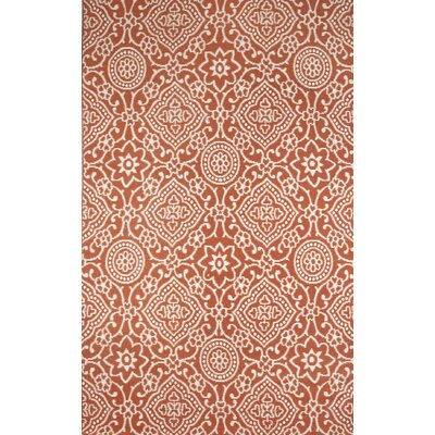 Sereno Coral/Cream Indoor/Outdoor Area Rug Rug Size: 5 x 76