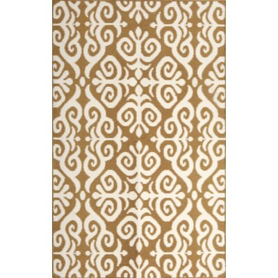 Earth Brown/Cream Indoor/Outdoor Area Rug Rug Size: 5 x 76
