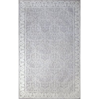 Como Hand-Woven Ivory/Dusty Gray Indoor Area Rug Rug Size: 8 x 10