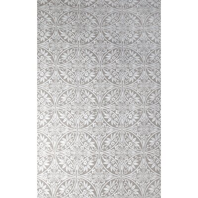 Antalya Hand-Woven Ivory/Gray Indoor Area Rug Rug Size: 5 x 8