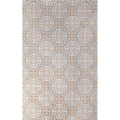 Kensington Hand-Woven Silver Indoor Area Rug Rug Size: 5 x 8
