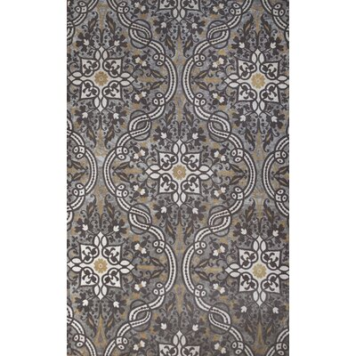 Ashton Hand-Woven Brown/Silver Indoor Area Rug Rug Size: 5 x 8