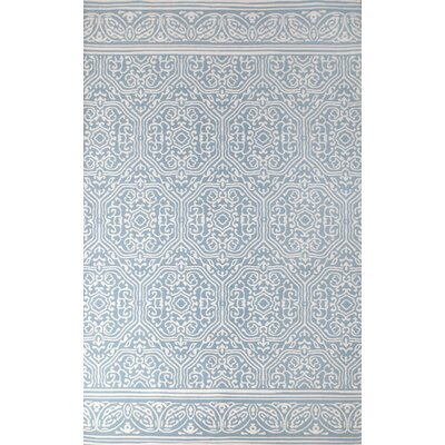 Venezia Hand-Woven Blue/Ivory Indoor Area Rug Rug Size: 8 x 10
