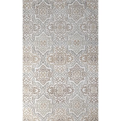 Ontario Hand-Woven Ivory/Loden Indoor Area Rug Rug Size: 5 x 8