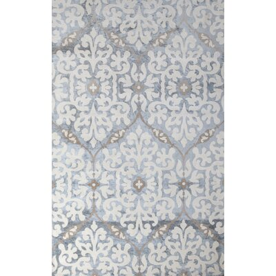 Romano Hand-Woven Light Blue Indoor Area Rug Rug Size: 5 x 8