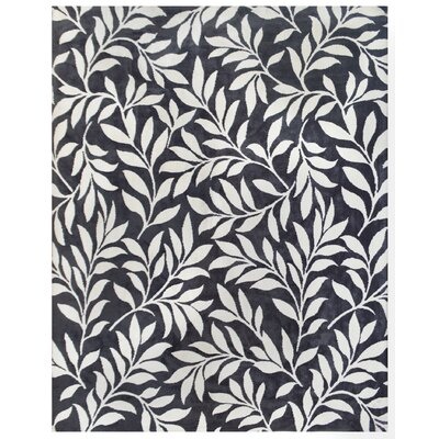 Mircoplush Dark Gray Area Rug Rug Size: 8 x 10