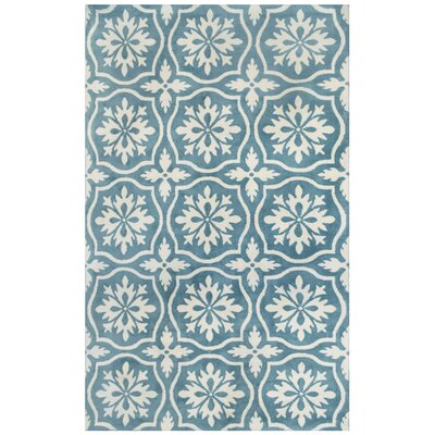 Microplush Blue Area Rug Rug Size: 5' x 8'