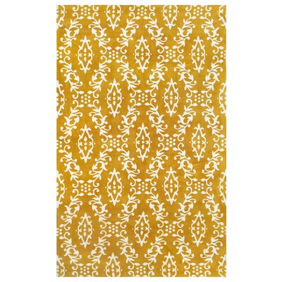 Microplush Yellow Area Rug Rug Size: 5 x 8