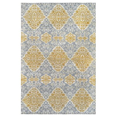 Hand-Woven Gold Indoor/Outdoor Area rug Rug Size: 5 x 8