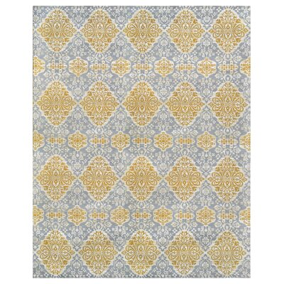 Hand-Woven Gold Indoor/Outdoor Area rug Rug Size: 8 x 10