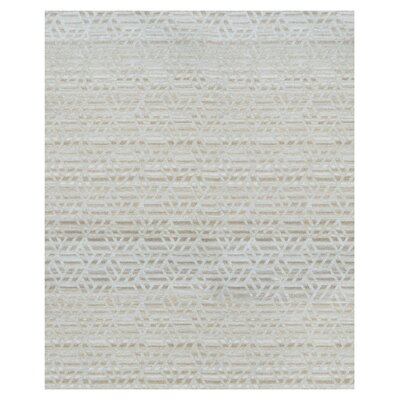 Hand-Woven Ivory Area Rug Rug Size: 8 x 10