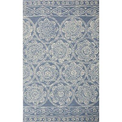 Villarreal Hand Tufted Wool Blue/Ivory Area Rug