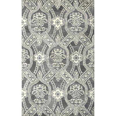 Marcarthur Hand Tufted Wool Black/Ivory Area Rug Rug Size: 5 x 8