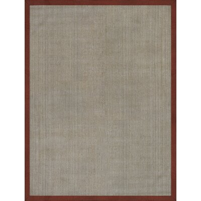 Rhoades Tropical Hand Woven Beige/Red Area Rug