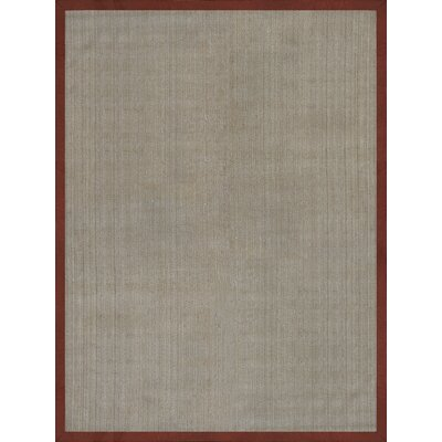Ridenour Tropical Hand Woven Beige/Red Area Rug