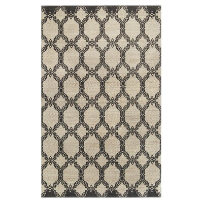 Eastlawn Hand Braided Charcoal Area Rug Rug Size: Rectangle 5 x 8