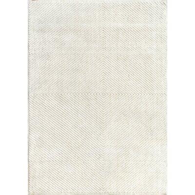 Fluker Hand Tufted Wool Ivory Area Rug