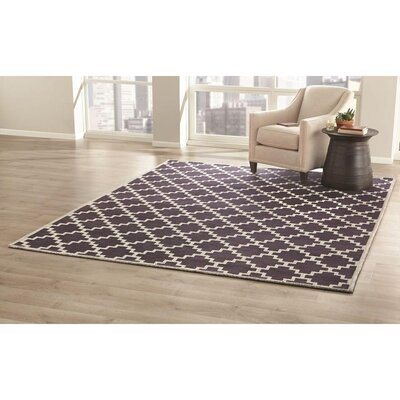 KeAndre Hand-Woven Navy Area Rug Rug Size: 9 x 12