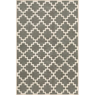 KeAndre Hand-Woven Green Area Rug Rug Size: 5 x 75