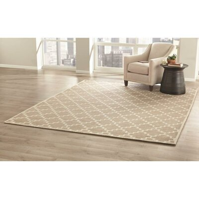 KeAndre Hand-Woven Taupe Area Rug Rug Size: 9 x 12
