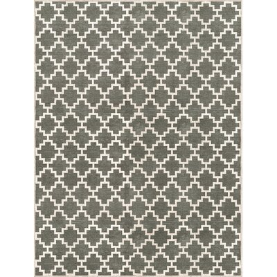 KeAndre Hand-Woven Green Area Rug Rug Size: 9 x 12