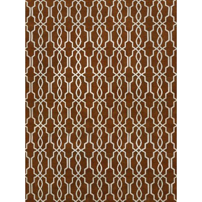 Pearle Hand-Woven Rust Area Rug Rug Size: 9 x 12