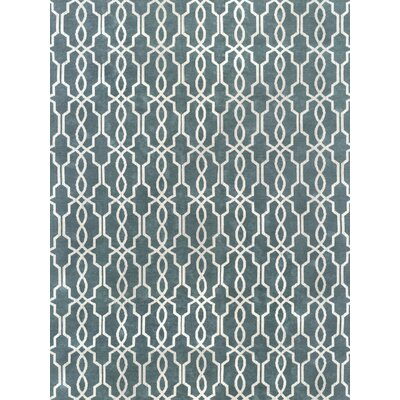 Pearle Hand-Woven Blue Area Rug Rug Size: 9 x 12
