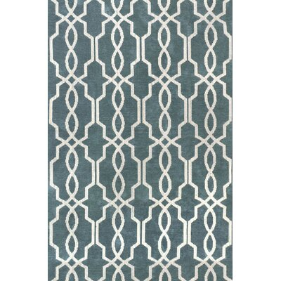 Pearle Hand-Woven Blue Area Rug Rug Size: 5 x 75