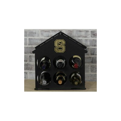 6 Bottle Tabletop Wine Rack NCAA Team: North Carolina State