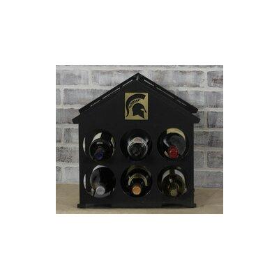 6 Bottle Tabletop Wine Rack NCAA Team: Michigan State