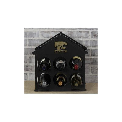 6 Bottle Tabletop Wine Rack NCAA Team: Kansas State