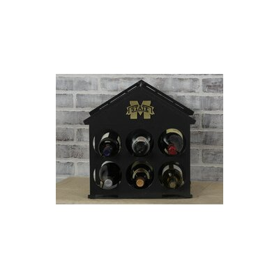 6 Bottle Tabletop Wine Rack NCAA Team: Mississippi State