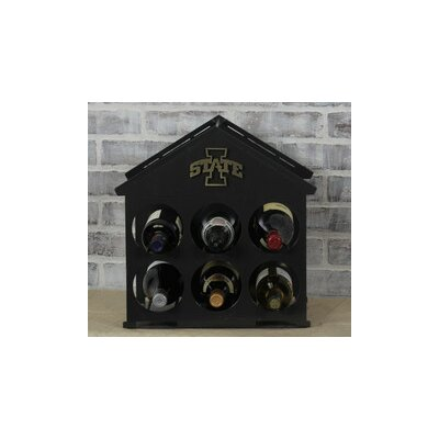 6 Bottle Tabletop Wine Rack NCAA Team: University of Arkansas